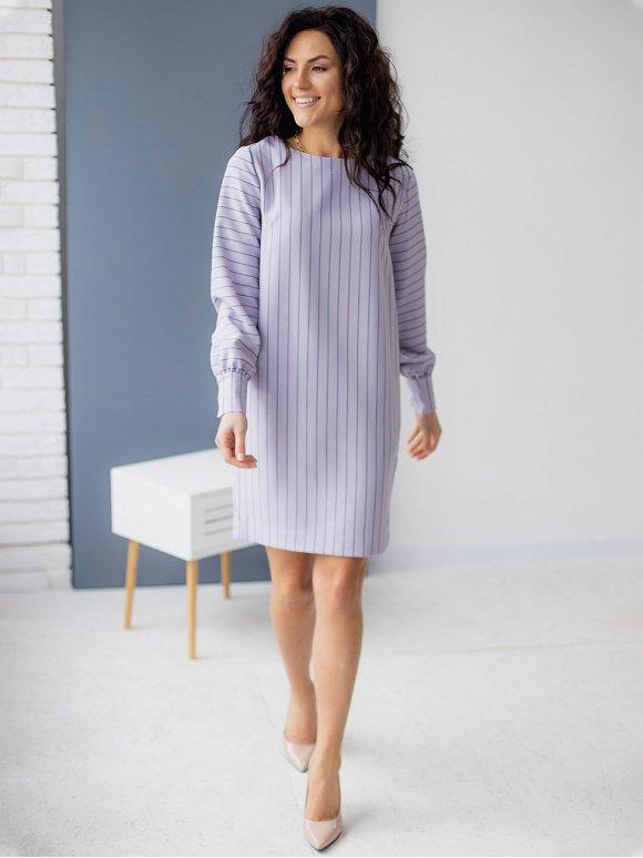 Стильное платье в вертикальную полоску 3159