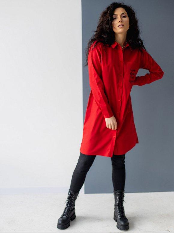 Стильное платье-рубашка 3082