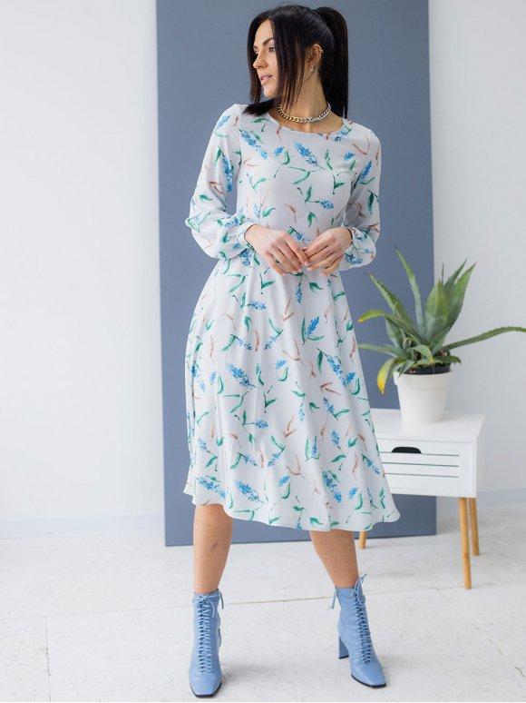 Воздушное платье в цветы 3162