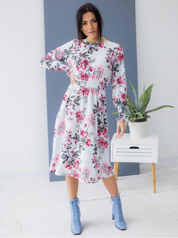 Женственное платье в цветочный принт 3156