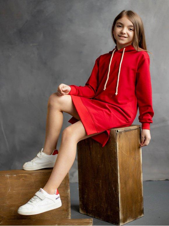 Детское спортивное платье худи 10079