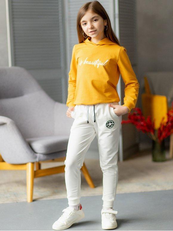 Детские спортивные штаны с нашивкой 10083