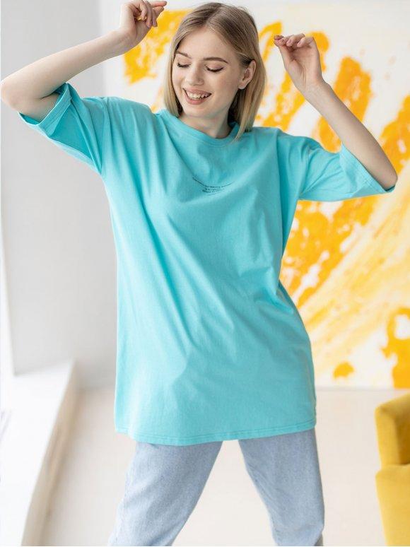 Оверсайз футболка с принтом 3195
