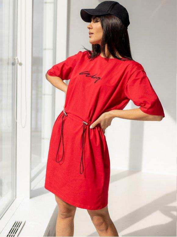 Стильное платье с вышивкой 3191