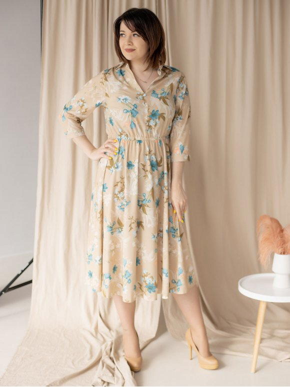 Платье в цветочный принт sizе+ 3188