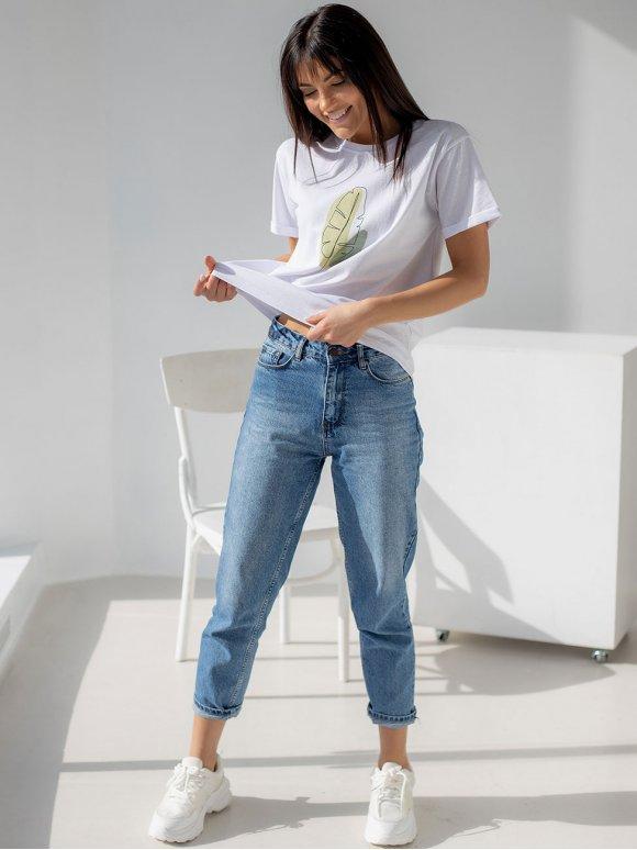Модная футболка с летним принтом 3204