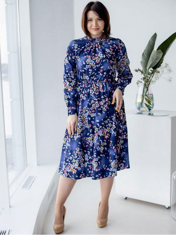 Нарядное платье size+ в цветочный принт 3180