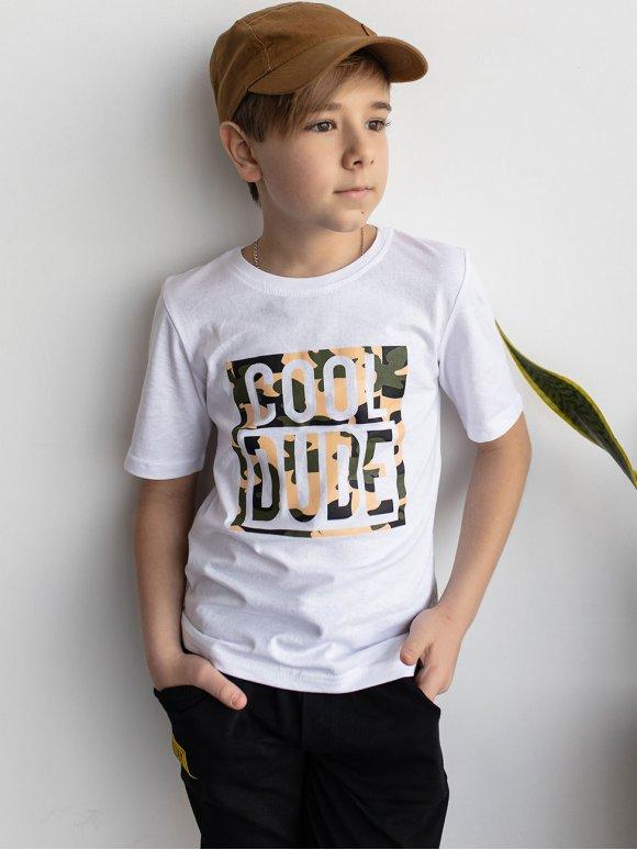 Детская футболка с камуфляжным принтом 10091