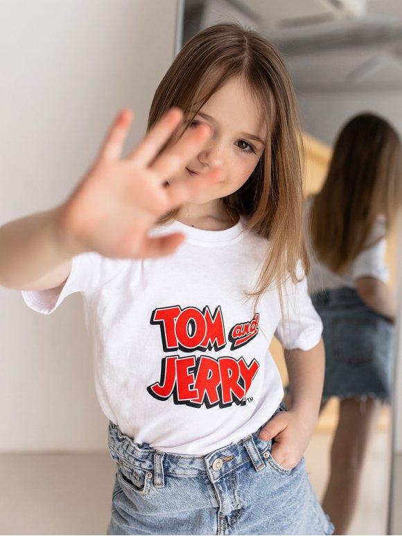 Детская футболка с принтом TOM AND JERRY 10090