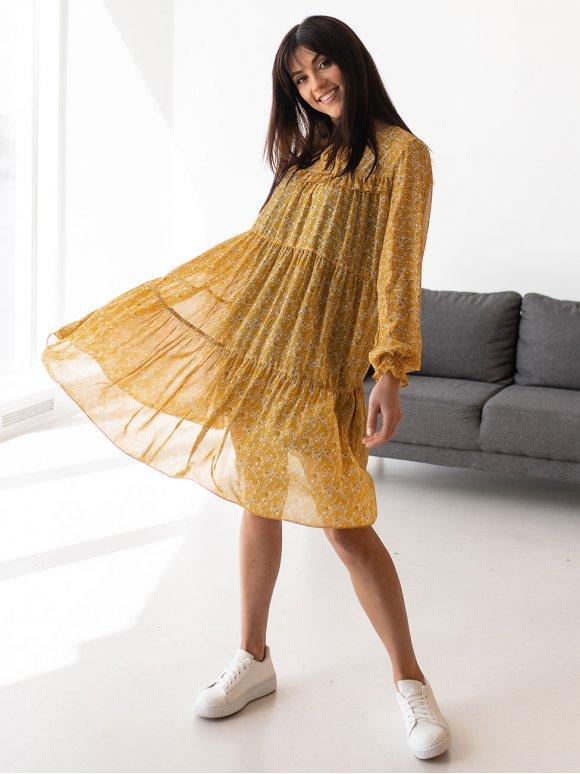 Шифоновое платье в цветочный принт 3153