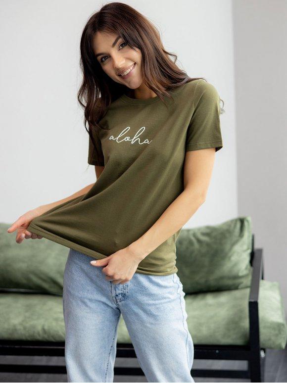 Трендовая футболка с надписью 3227