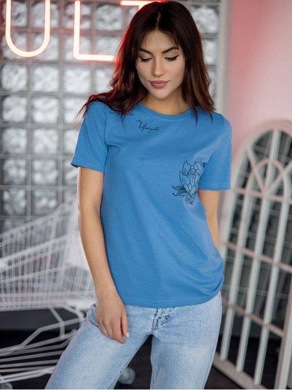 футболка с принтом в стиле тату 3228