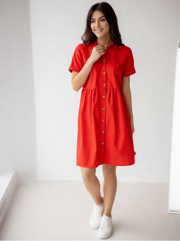 легкое льняное платье-рубашка 3223