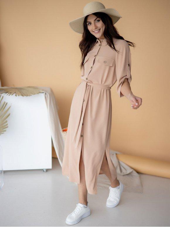 очень красивое платье-рубашка длины миди 3220
