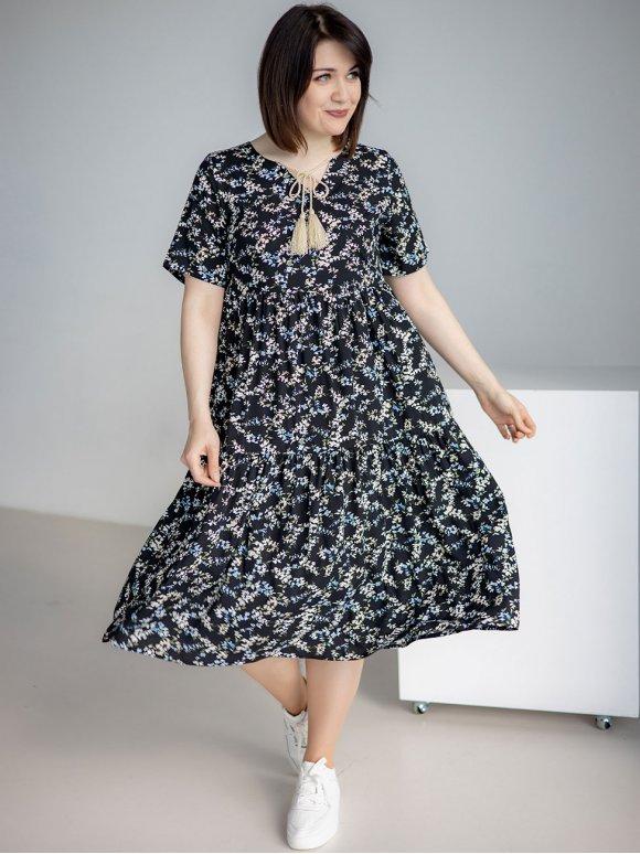 Платье size+ с кисточками 3238