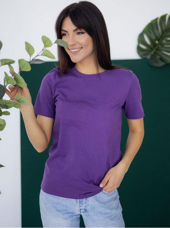 Актуальная однотонная футболка 3218