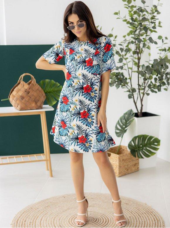 Лёгкое летнее платье с флоральным принтом 3250