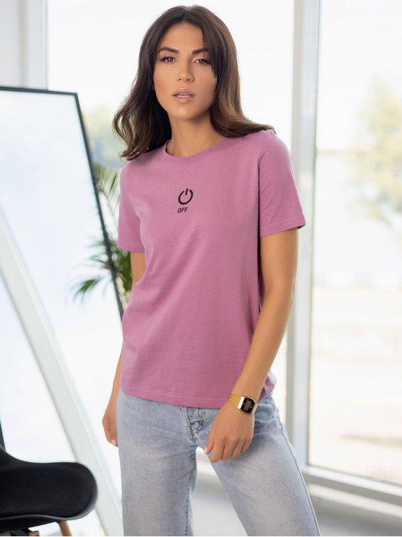 Хлопковая футболка с принтом 3254