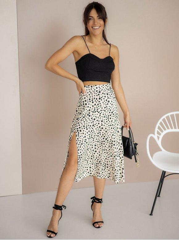 Лёгкая юбка-миди с распоркой 3243