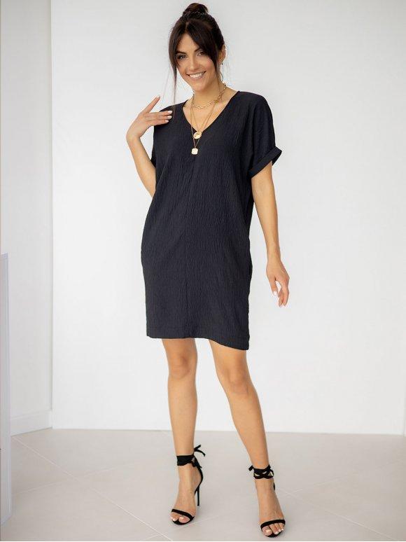 Короткое платье с V-образной горловиной 3247