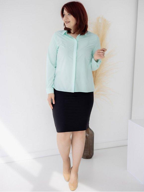 Классическая блуза size+ с супатной застежкой 3321