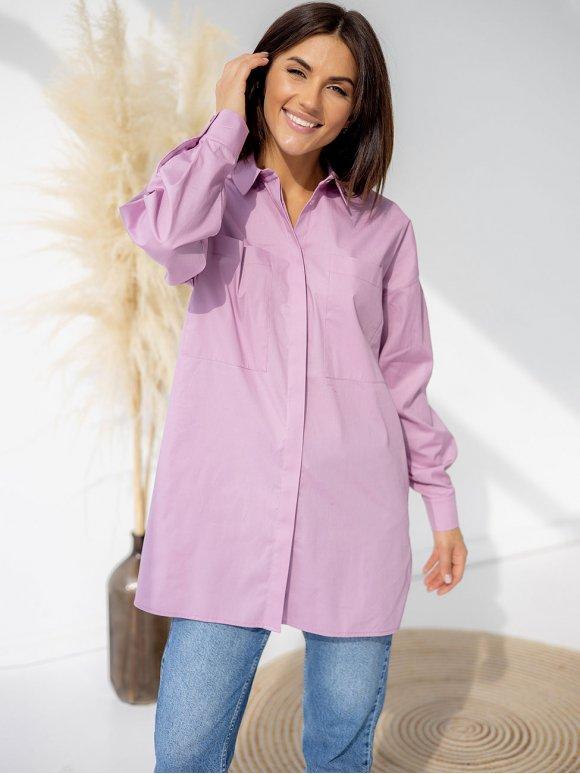 Стильная рубашка с карманами 3312