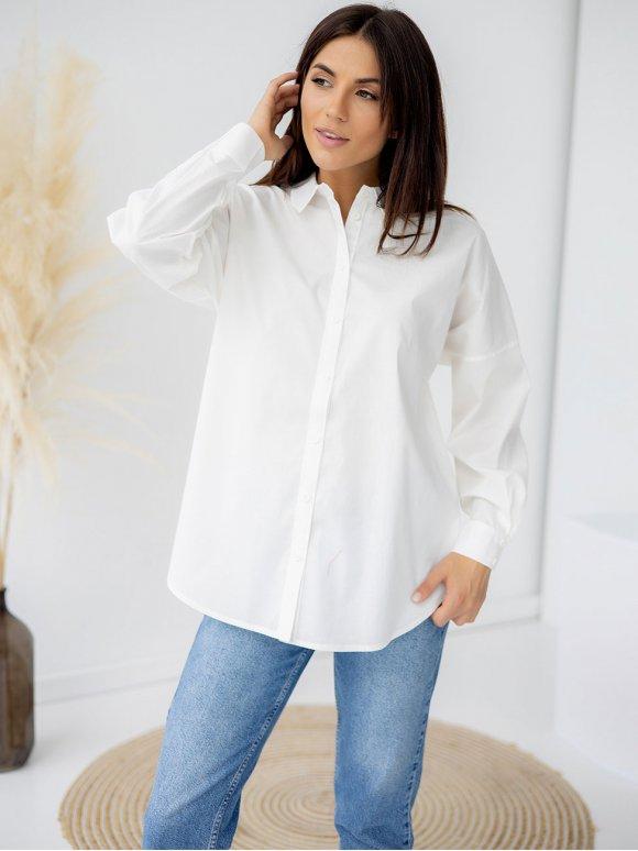 Удлиненная рубашка с супатной застёжкой 3311