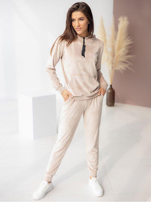 Велюровый костюм: худи на молнии с пуллером + штаны 3345