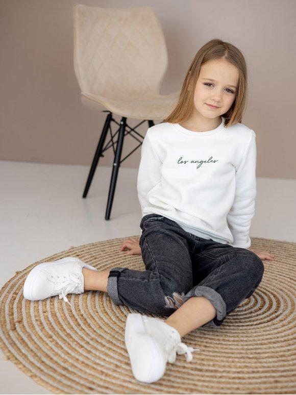 Детский свитшот с каллиграфическим принтом 10096