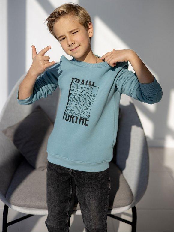 Теплый детский свитшот с принтом 10095