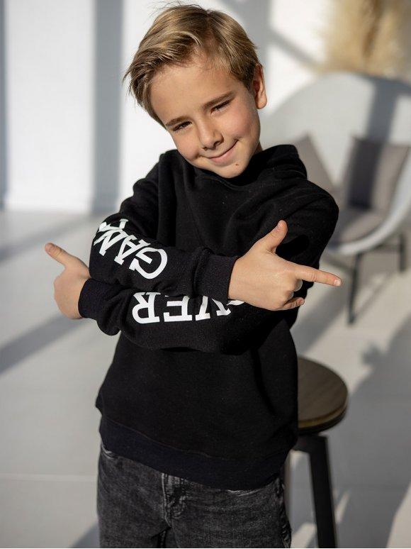 Детский худи с принтом на рукавах 10097