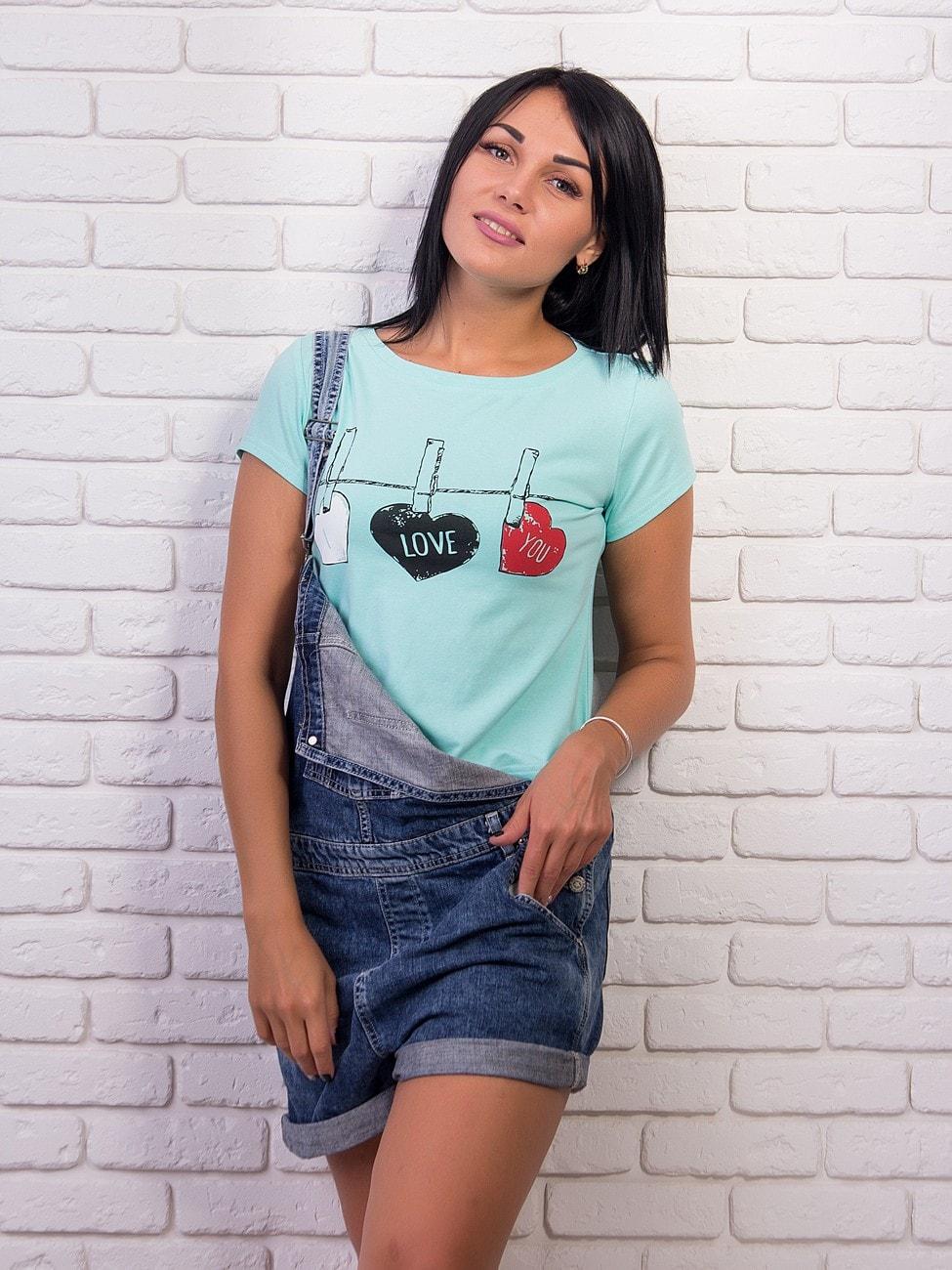 Укорочена футболка з круглим вирізом. Арт.1996 7b200072561af