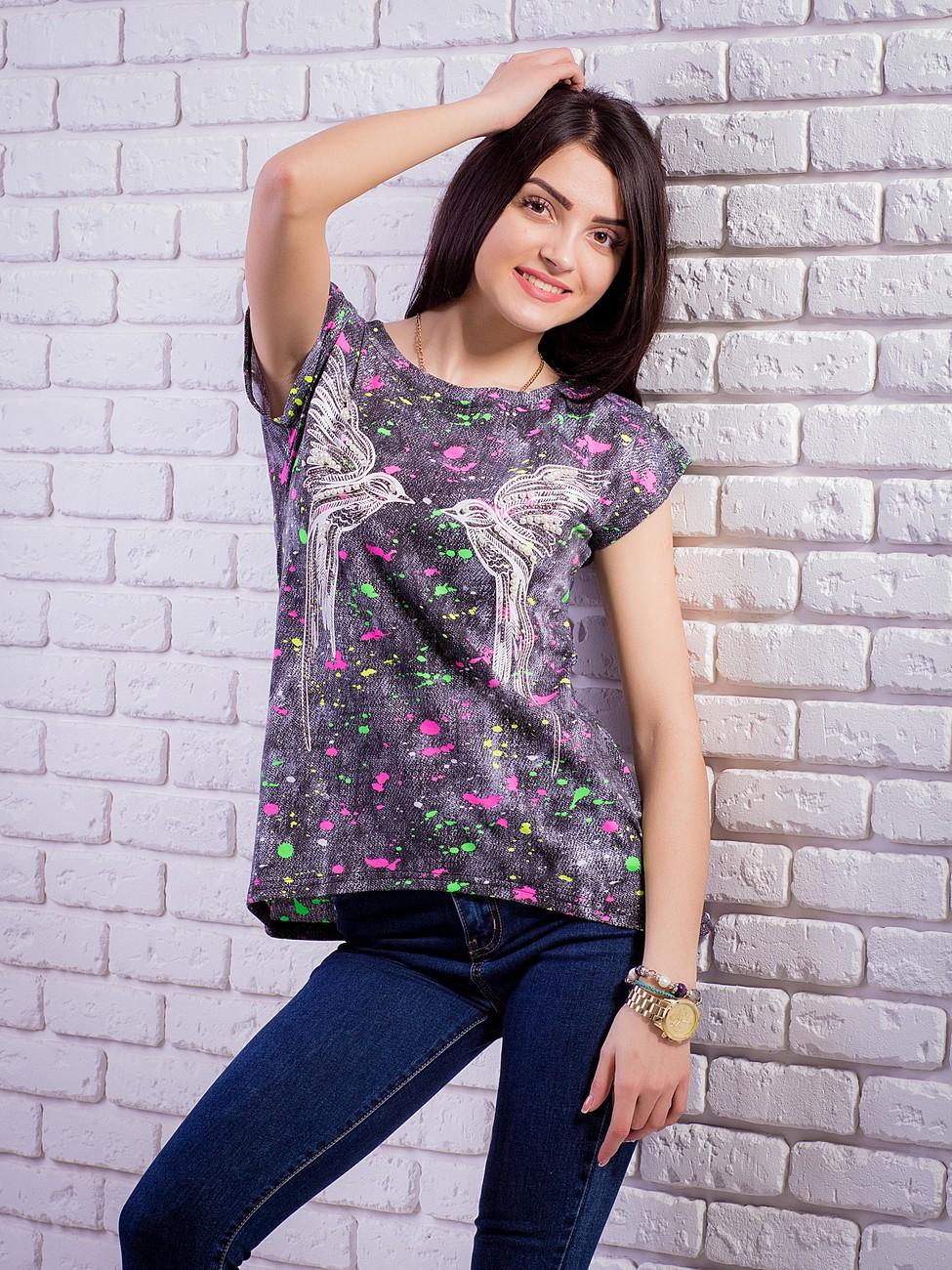 кофты майки футболки с комбинированными вставками