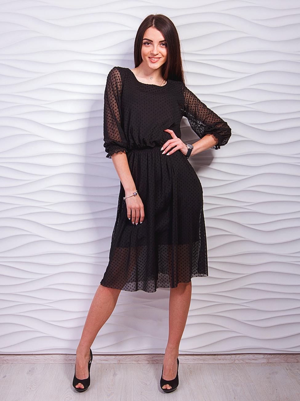 f07bbe38477 Нарядное платье с сеткой в горошек. Арт. 2319
