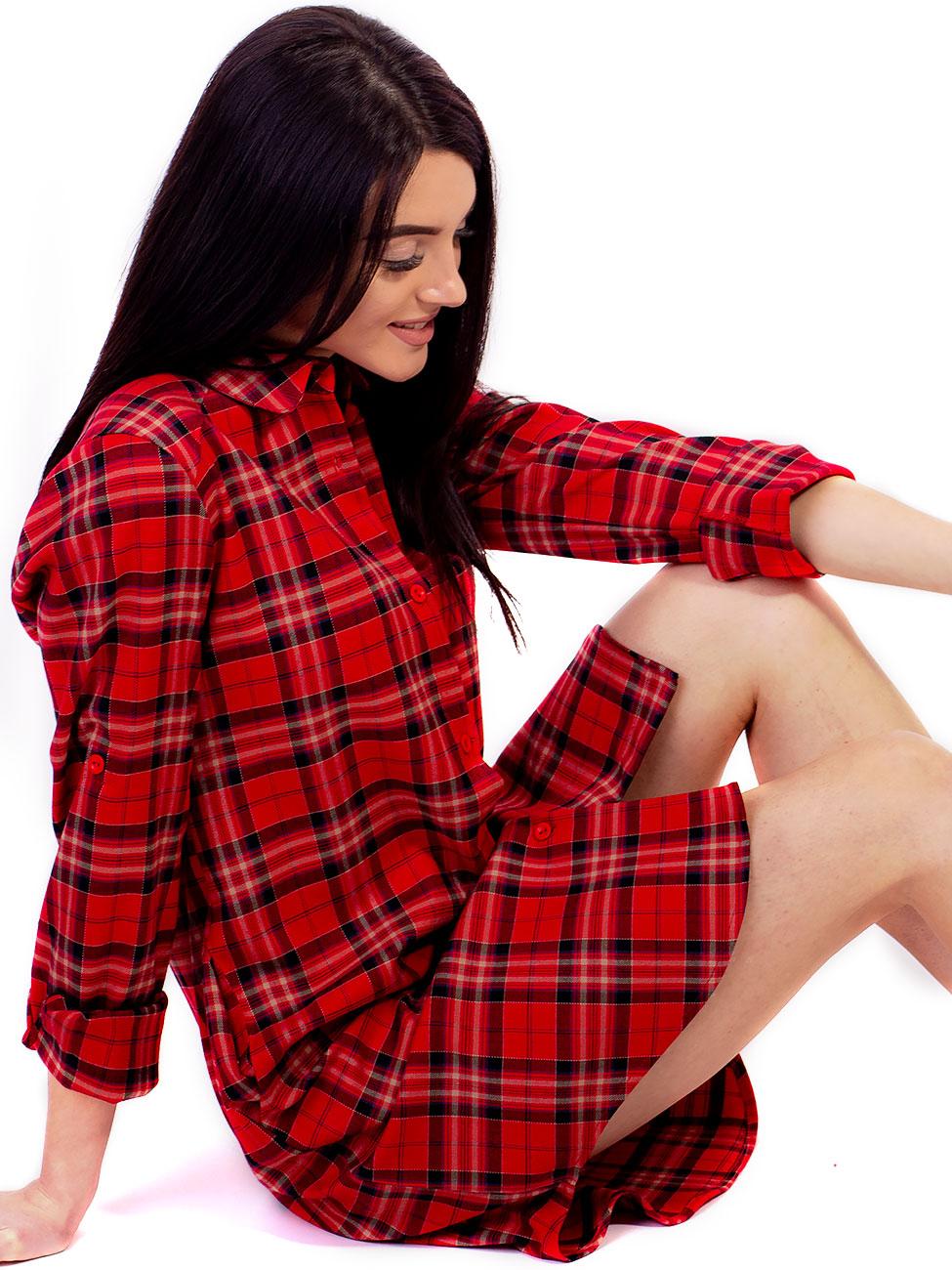4f8ebd2b2f7 Платье-рубашка в шотландскую клетку. Арт.2211